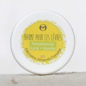 Baume lèvres pamplemousse karité noisette - cosmétique bio naturel - Savon de l'Ozon