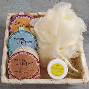 coffret-cadeau-savons à froid-baume à lèvres