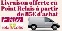 Livraison offerte en Point Relais à partir de 85€ d'achat