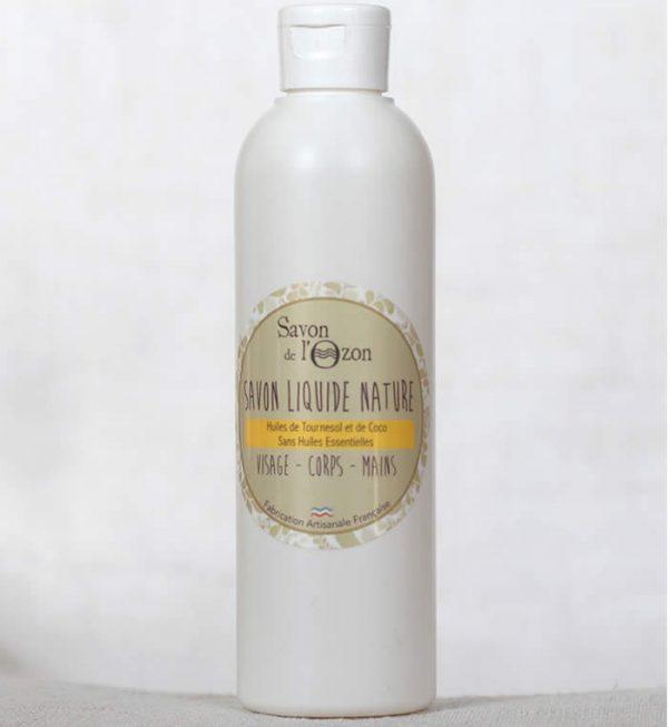 Savon liquide nature à base d'huiles de tournesol et de coco bio sans huile essentielle