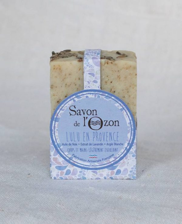 Savon de l'Ozon argile blanche huile de noix Lulu en Provence