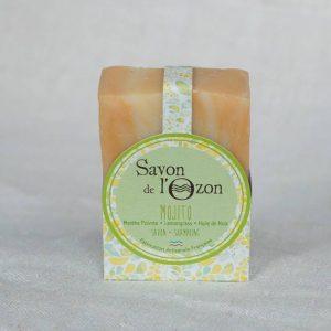 Savon shampoing solide Mojito à base d'huile de noix - savon de l'Ozon