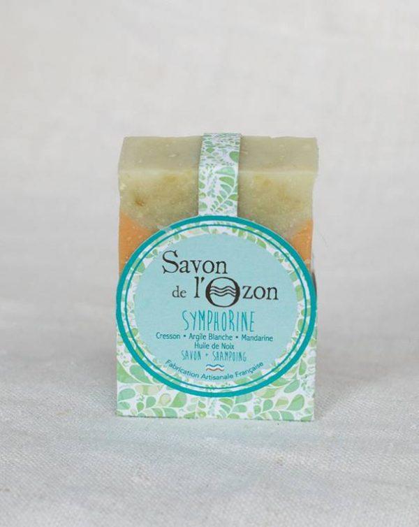 Savon shampoing solide Symphorine cresson de l'Ozon huile de noix