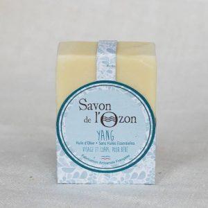 Savon saponifié à froid pavé Yang à base d'huile d'olive pour bébé