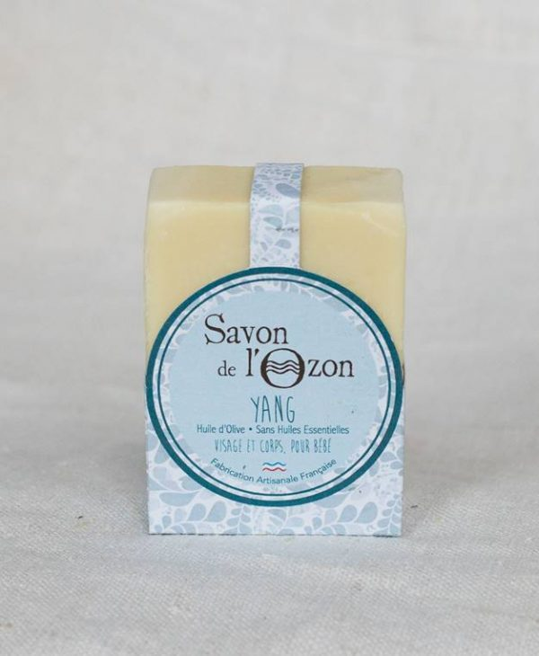Savon de l'Ozon saponifié à froid pavé Yang à base d'huile d'olive pour bébé