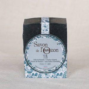 Savon saponifié à froid - Savon de l'Ozon - charbon végétal et huile de noisette- cosmétique naturel