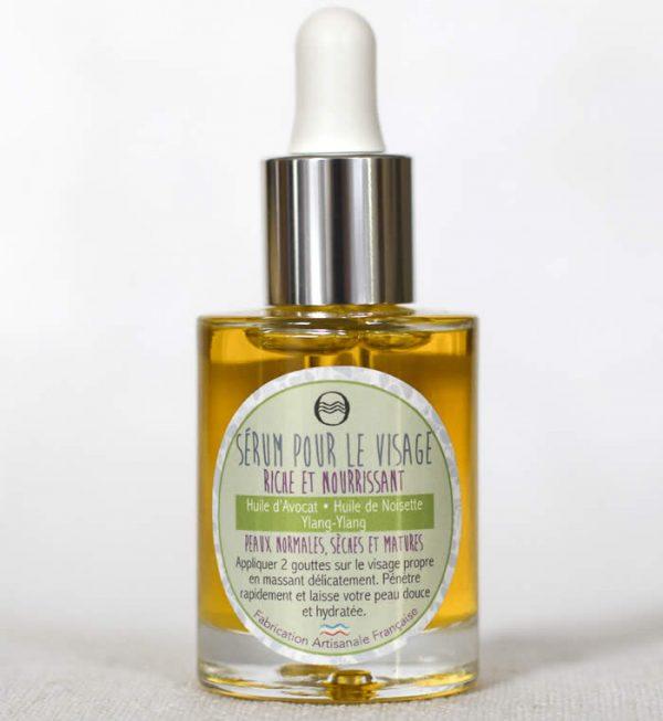 Sérum visage riche et nourrissant - cosmétique naturel - savon de l'Ozon